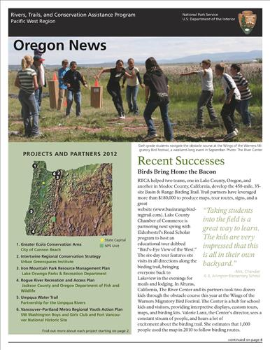 RTCA 2012 Oregon News