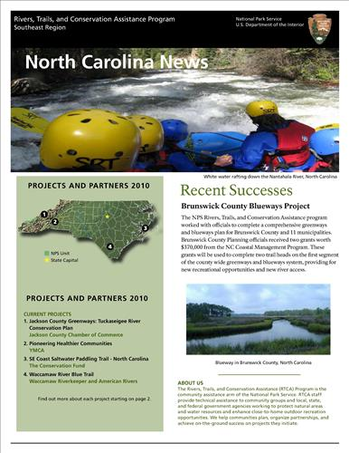 RTCA 2010 North Carolina News. This brochure provides information about the current projects and recent successes.