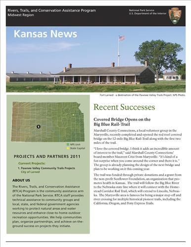 RTCA 2011 Kansas News. This brochure provides information about the current projects and recent successes.