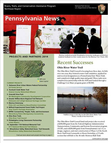RTCA 2014 Pennsylvania News. This brochure provides information about the current projects and recent successes.