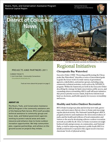 RTCA 2011 District of Columbia News. This brochure provides information about the current projects and recent successes.