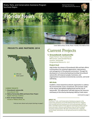RTCA 2014 Florida News. This brochure provides information about the current projects and recent successes.