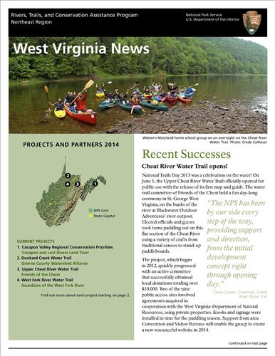 RTCA 2014 West Virginia News
