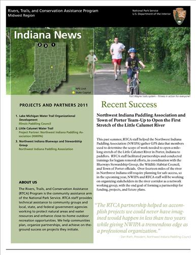 RTCA 2011 Indiana News. This brochure provides information about the current projects and recent successes.