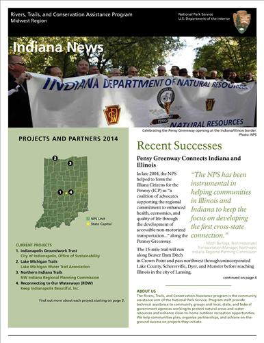 RTCA 2014 Indiana News. This brochure provides information about the current projects and recent successes.