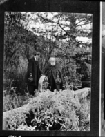 John Burroughs [right] and Charles Keeler [left] at Muir's grave. At Alhambra [Valley].