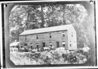 Upper House later conveted to Cedar Cottage. Photocopied by Cather from early photo made in Yosemite by C.L. Weed in 1859. See also RL-12,570 & 13,713. copied by Cather, copied May 22, 1941