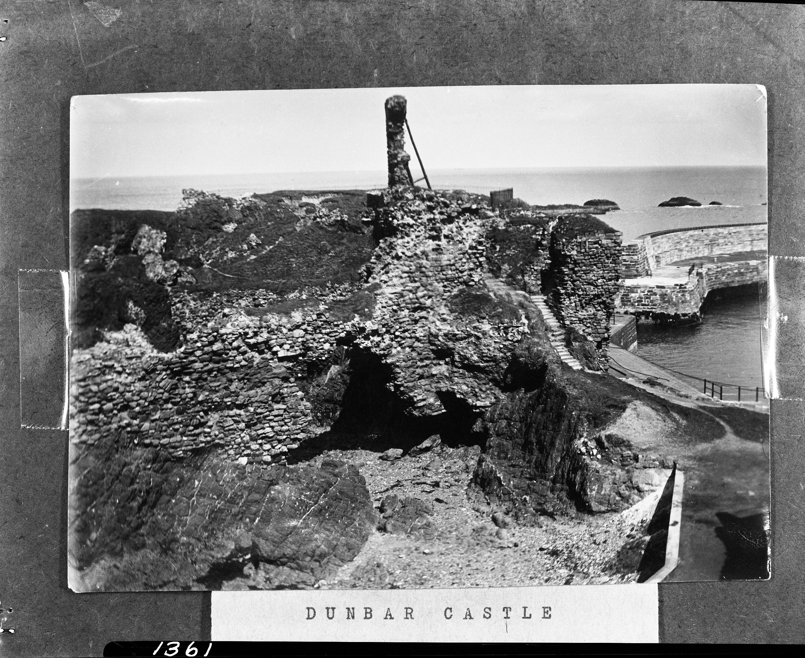 Dunbar Castle, Scotland, was the ancient seat of the Earls of Dunbar, later of the Stuart family. Mary Queen of Scots lived in the castle with her first husband, Lord Darnley, and later with the Earl of Bothwell.