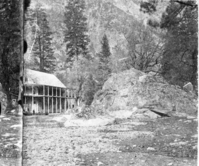 "Detail of RL-16,486. Caption: ""48 - Rock Cottage, Yosemite"" is erroneous; actually is Cedar Cottage. copied by Michael Dixon, copied July 1985"