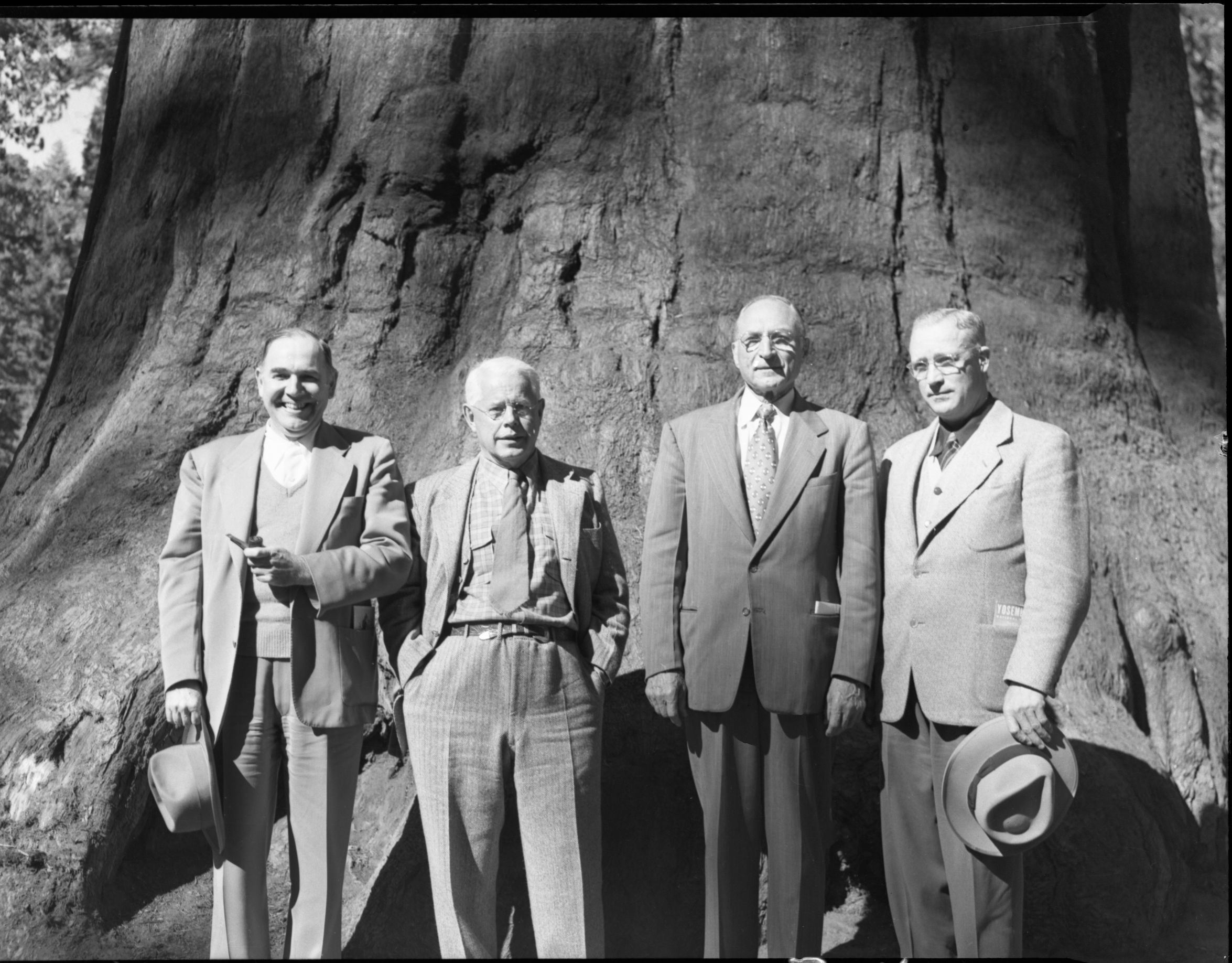 L to R: L.C. Merriam, Arthur Demaray, O.A. Tomlinson, and Hillory Tolson
