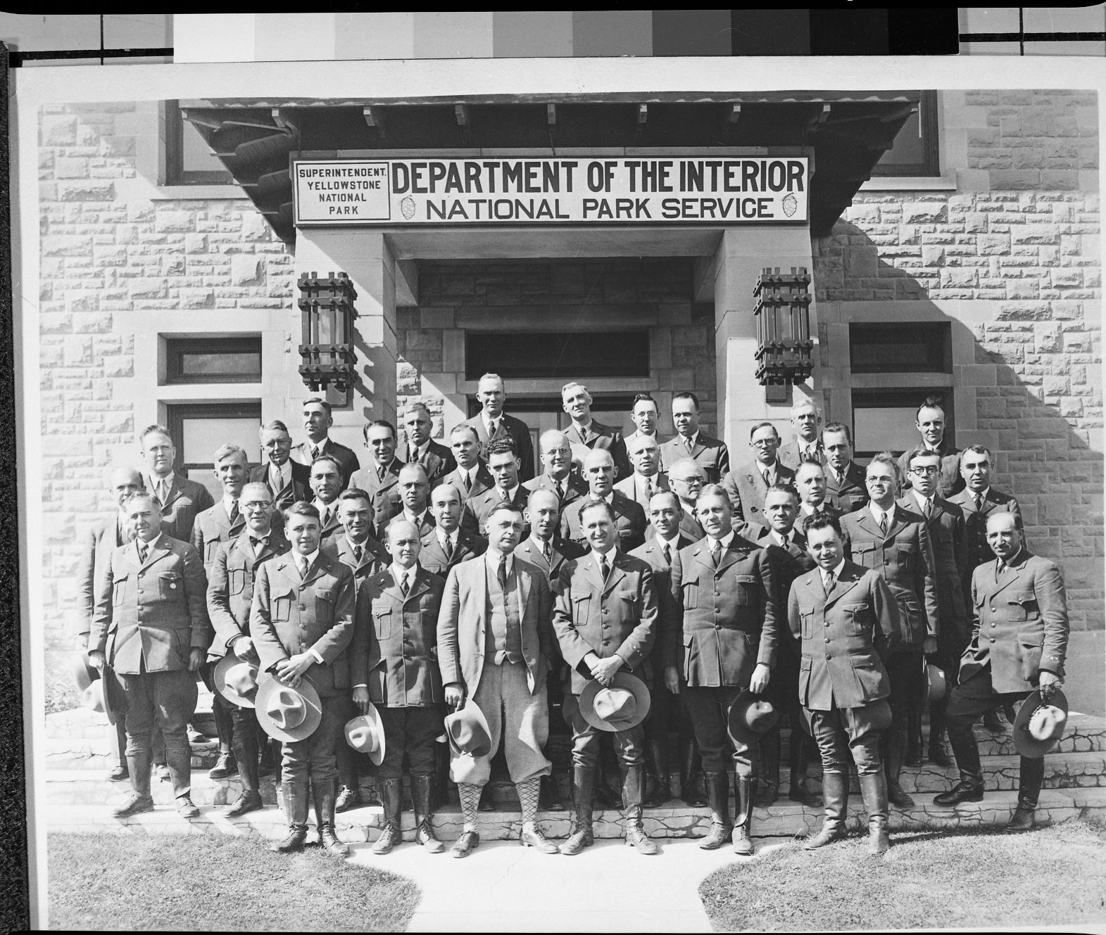 The Superintendent's conference at Yellowstone Nat. Park, 1929. Original print in the over-sized photo drawer in RL. Copy Neg: J. Ernest, 1983