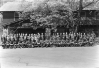 Group photo of permanent of NPS personnel (hats on).